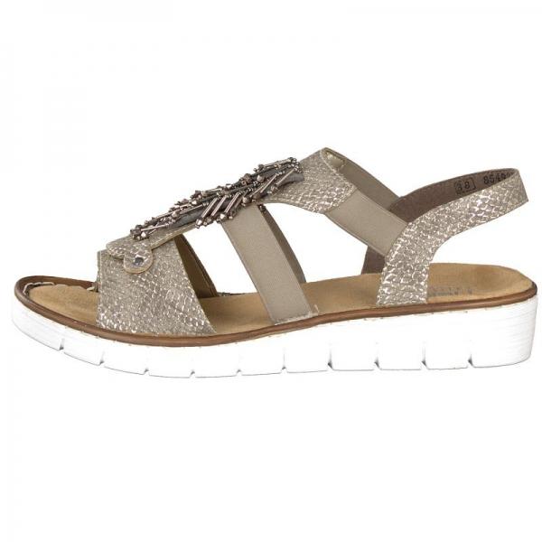 Rieker Damen Sandale beige 60062-64