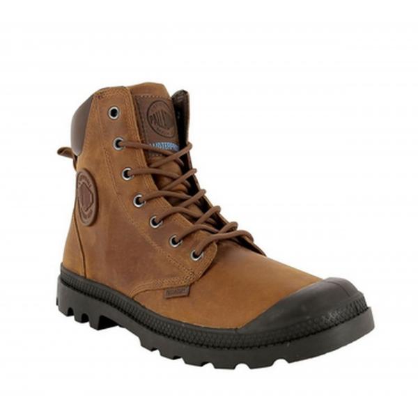 Palladium PAMPA CUFF WP LUX Herren-Boots braun