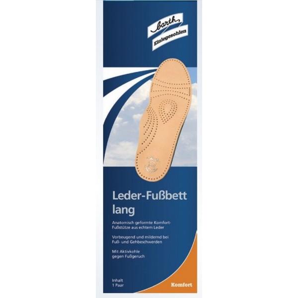 Barth Leder-Fußbett Lang