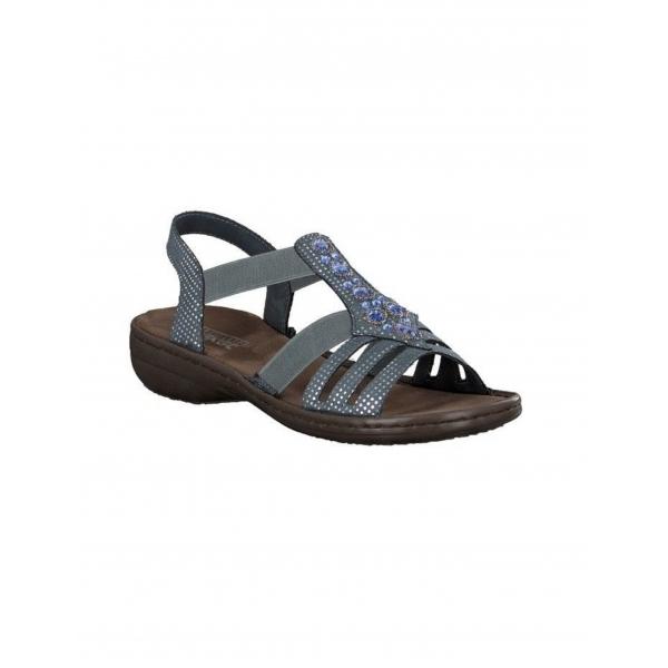 Rieker Damen Sandale blau 60813-12