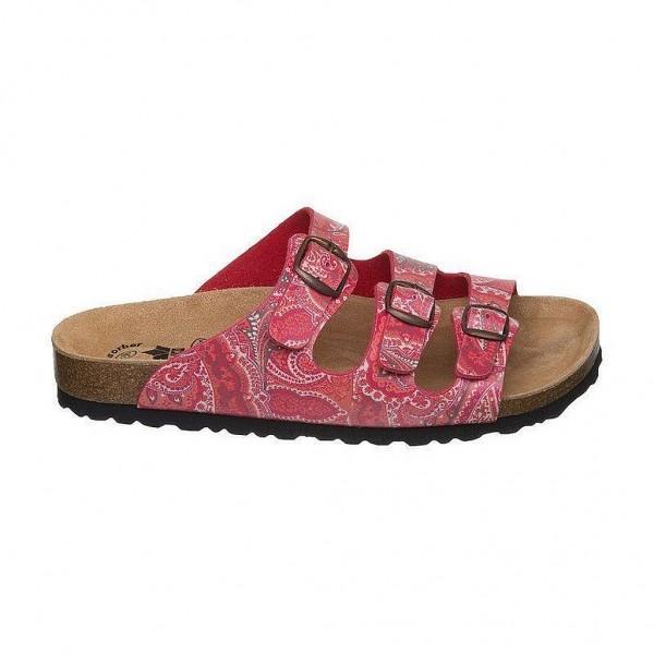Lico Slipper, Sandale Bioline Damen - rot Tieffußbett