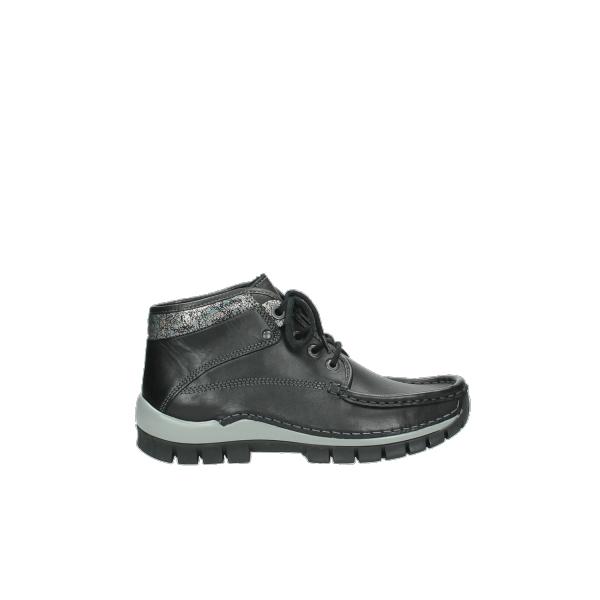 Wolky UP2 4728 Cross Winter schwarz metallic Leder