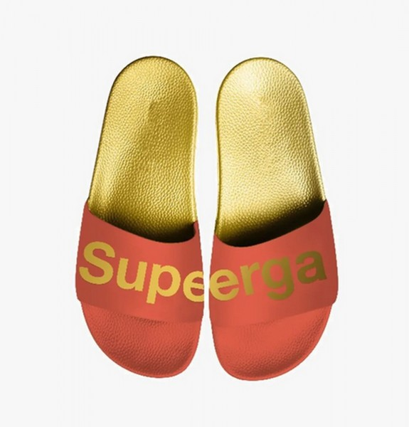 Superga Slide orange gold