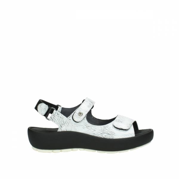 Wolky Sandale Swing Rio weiß/schwarz canals