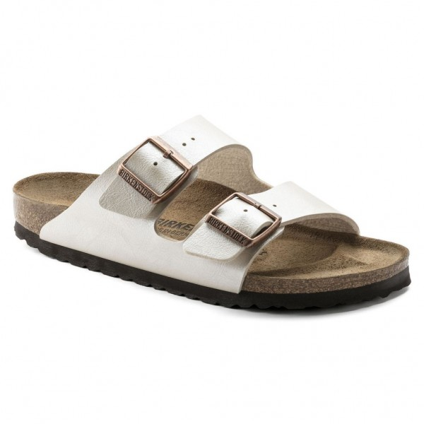 Birkenstock Arizona Birko-Flor Graceful Pearl White schmal