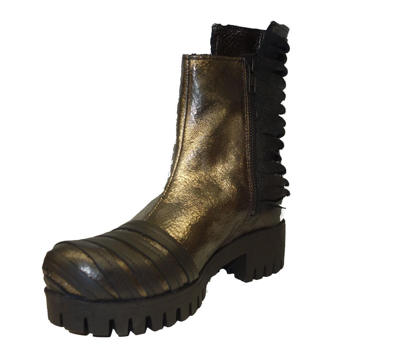 ca20617f2dafca Papucei Rudi AW18-silber Boot Stiefelette