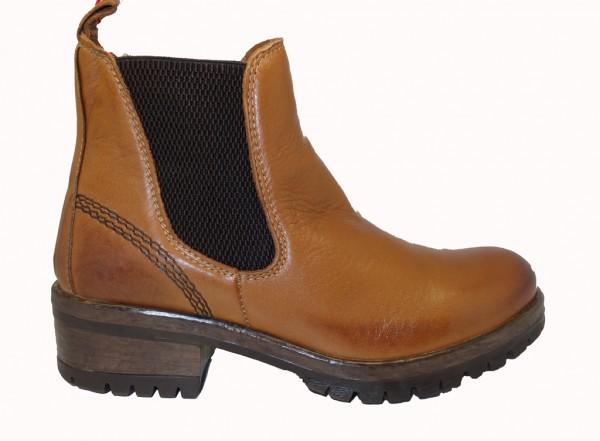 Maca Kitzbühel Stiefelette Chelsea-Boot cognac