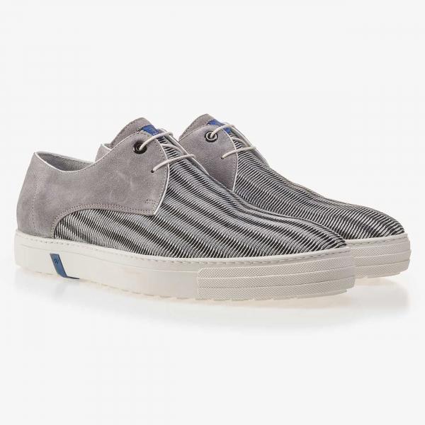 Floris van Bommel Grauer Sneaker mit Netzmuster