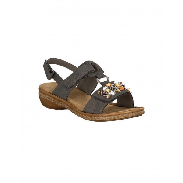 Rieker Damen Sandale grau 628D7-45