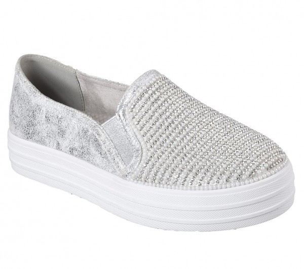 Skechers Double Up - Shiny Dancer Sneaker silber